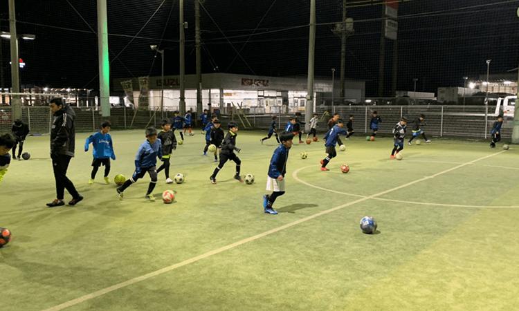 佐野市サッカースクール練習風景