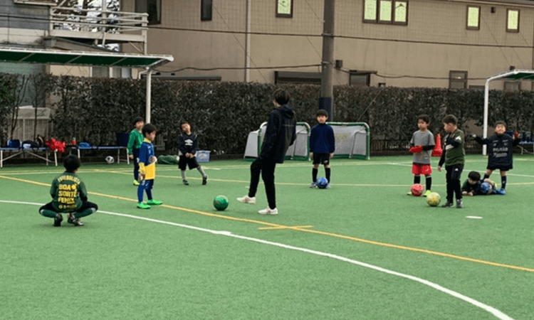 緑区サッカースクール練習