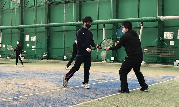 川越市テニススクール練習風景