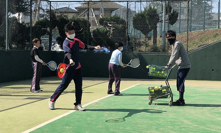 旭区テニススクール練習2