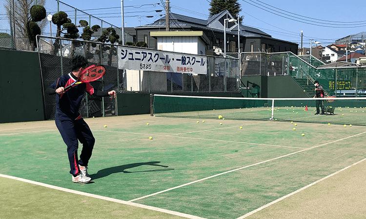 旭区テニススクール練習3