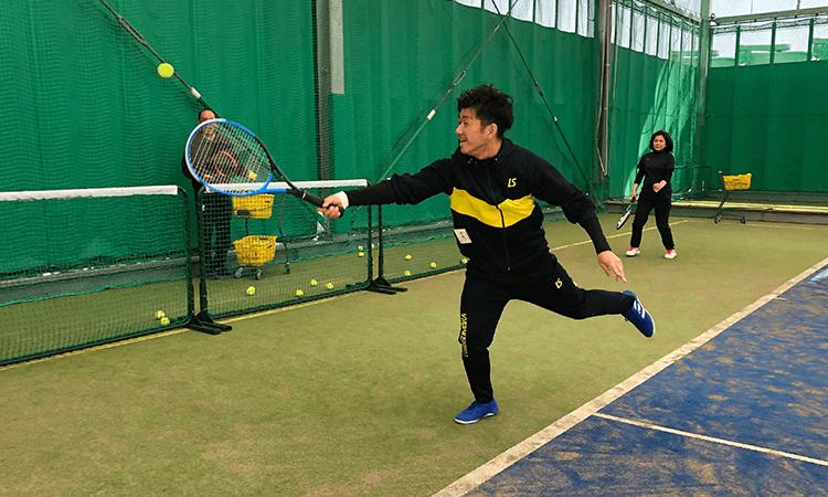 HITテニススクールの練習風景2