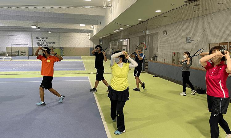 神奈中インドアテニススクール藤沢校の体験レッスン